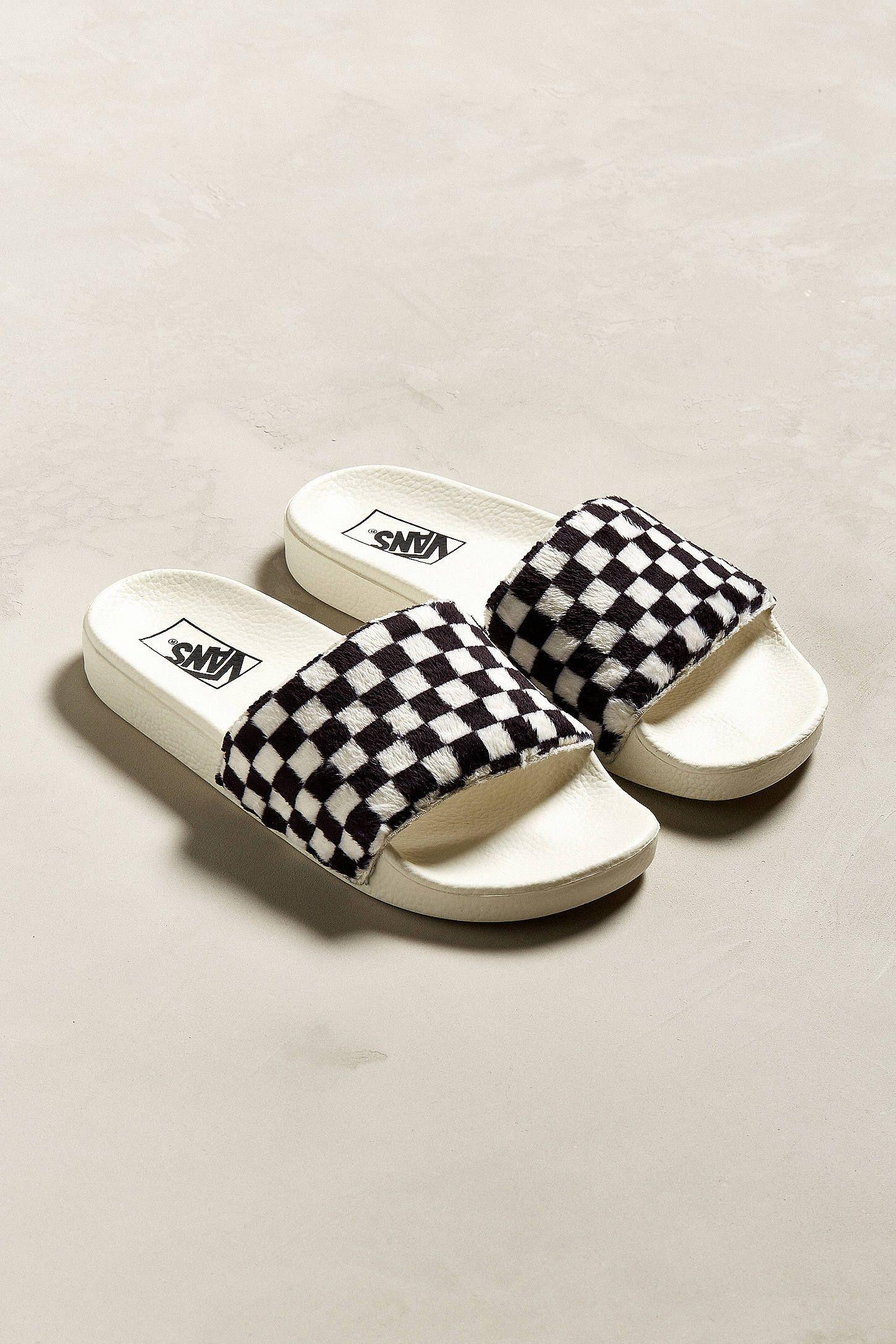 Vans Slide-On Checkerboard Sherpa