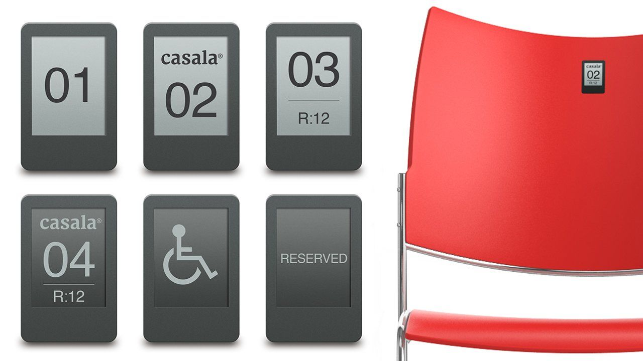 Versatile Display Options With Casala S Battery Free Seat Numbering Zifra Ii Bulk Chairs Digital Electronic Products