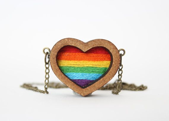Miniature embroidered rainbow pendant!  This item is handmade by me from scratch, from the moment I receive your order it takes up to 10 days