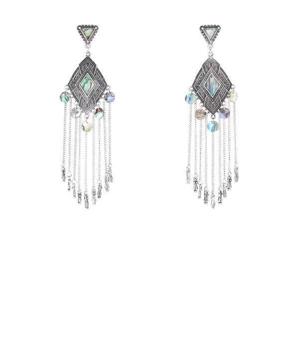Silver Abalone Chandelier Earrings  c9e2768f218