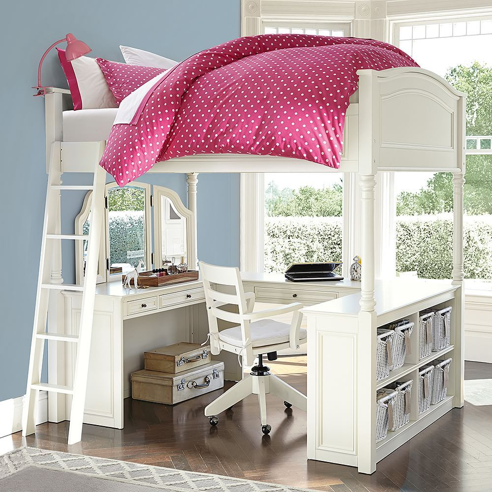 a ready awesome built of in with this is desk storage and play chelsea vanity loft bed for space