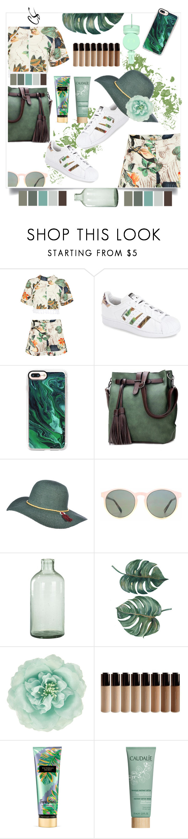 """""""Good life"""" by pretty0329 ❤ liked on Polyvore featuring adidas, Casetify, Scala, HOOK LDN, Fresh 'N Rebel, Imperfect Design, Monsoon, Victoria's Secret and Caudalíe"""