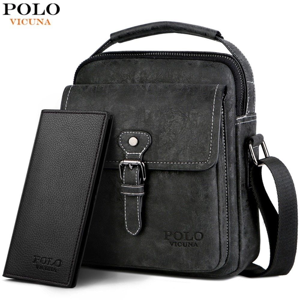 6f8ce494b2be POLO VICUNA Men Set Series Cross-body Casual Bag With Long Wallet Vintage   fashion