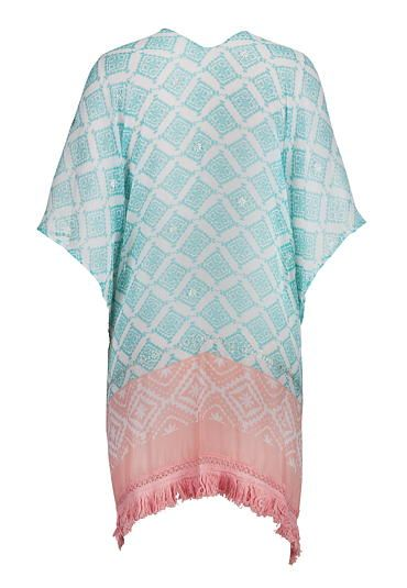sea green combo metallic detail patterned scarf wrap - maurices.com