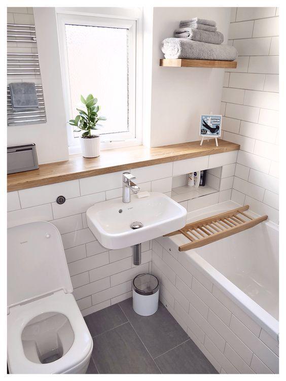 27 ba os peque os modernos y con toques muy elegantes On muebles para baños muy pequeños