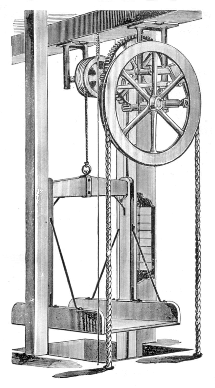 Edwin Harrington Hand Power Elevators Pages 142 143 Elevator Wiring Schematic For Dumb Waiter Design