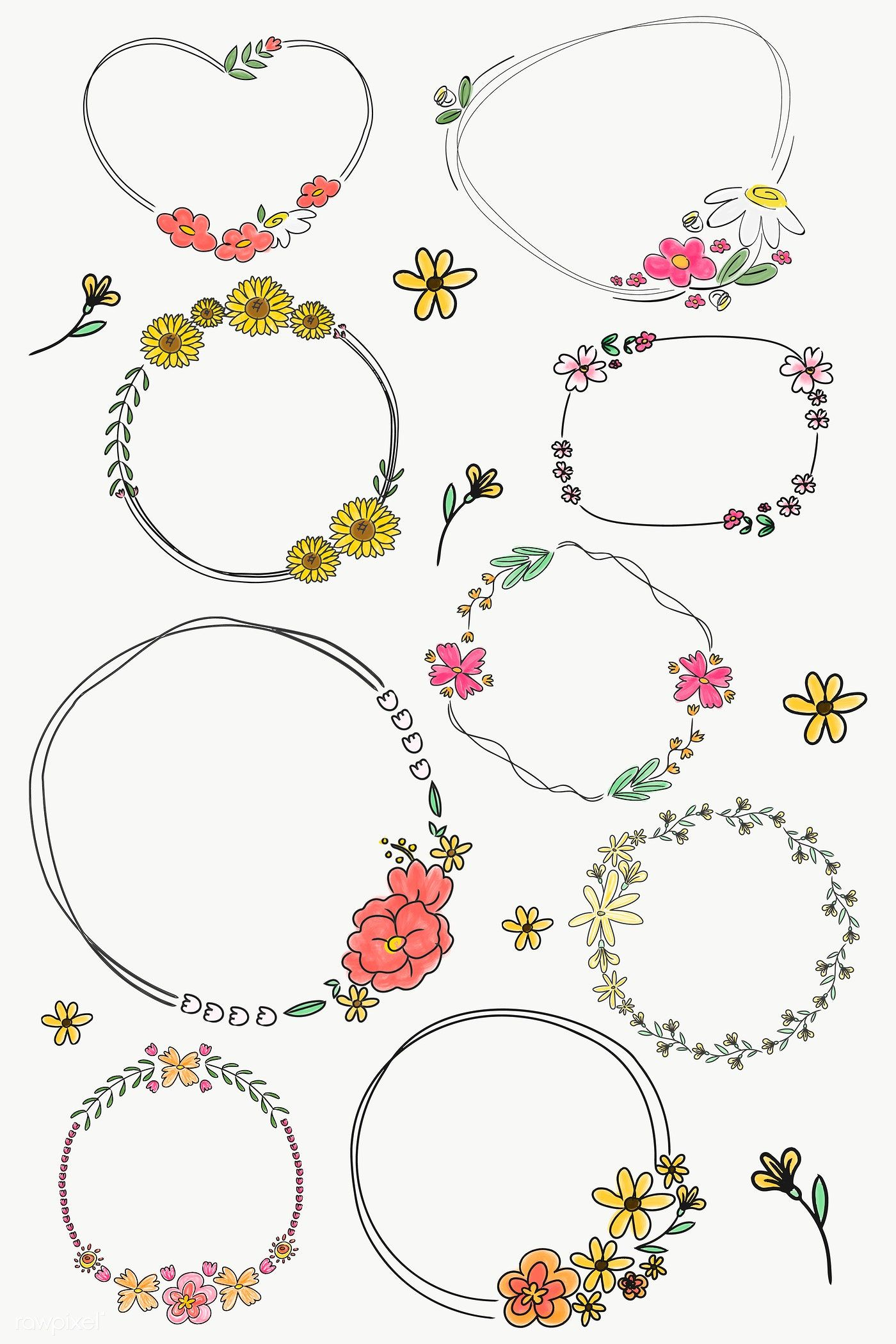 Photo of Download free png of Hand drawn wreath transparent png collection 2271840