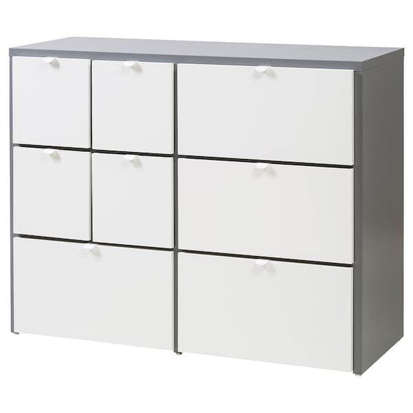 Visthus Kommode Mit 8 Schubladen Grau Weiss Ikea Ikea Schubladenschrank Ikea Kommode