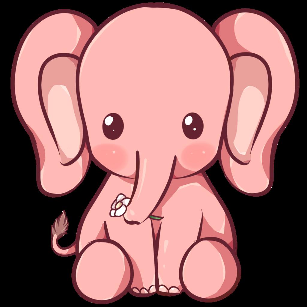 Kawaii Elephant by Dessineka on DeviantArt Cute elephant
