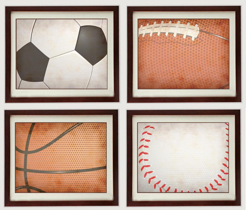 Vintage Style Sports Nursery Art Printable Baby Set of 4 Prints ...