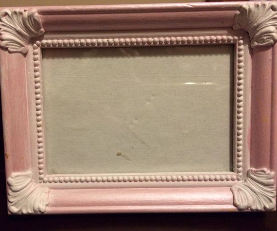 Vintage Pink Pearl White 3x5 Picture Frame Restorationlovely