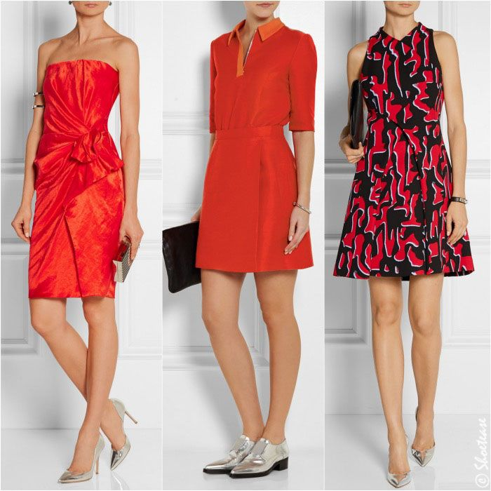 Best Picks: What Color Shoes to Wear with Red Dress | Flat shoes ...