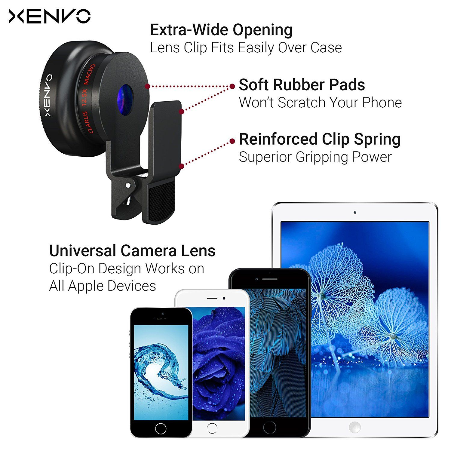 Amazon com : Xenvo iPhone Camera Lens Pro: Macro Lens Wide Angle