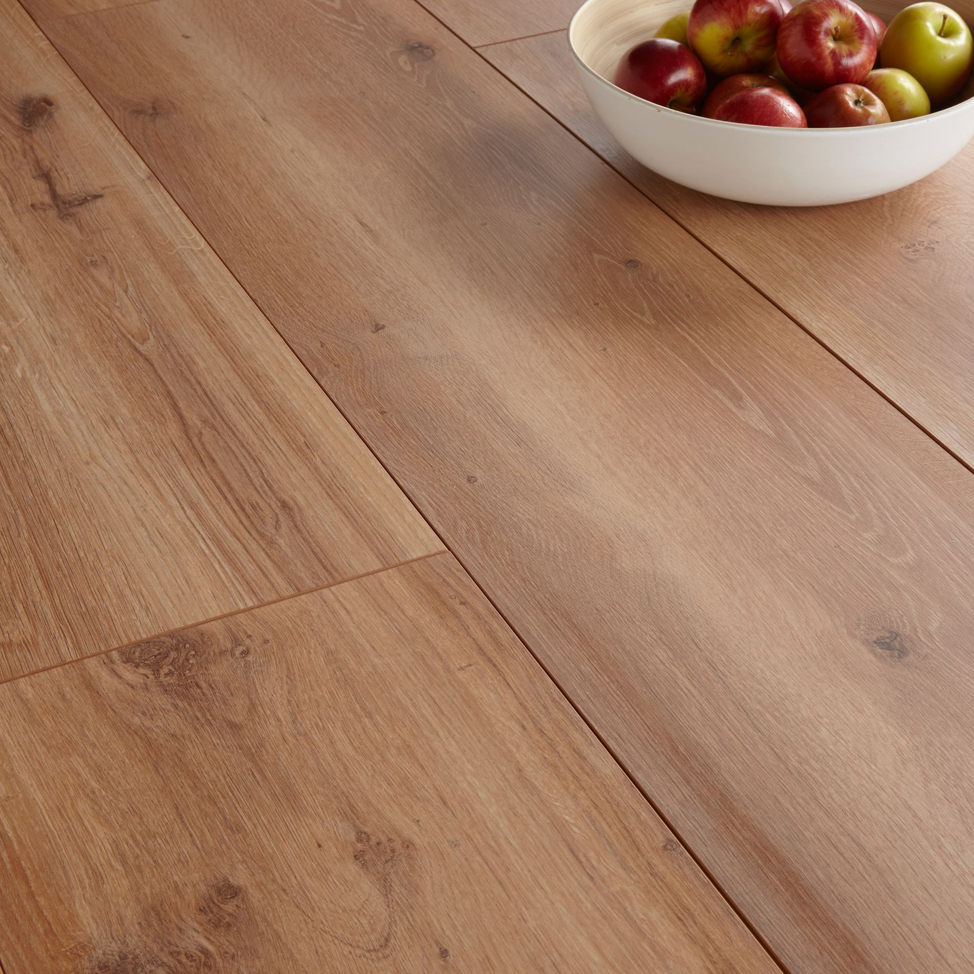 Colours Princeps Oak Effect Wide Plank Laminate Flooring 1.45m² Pack ...
