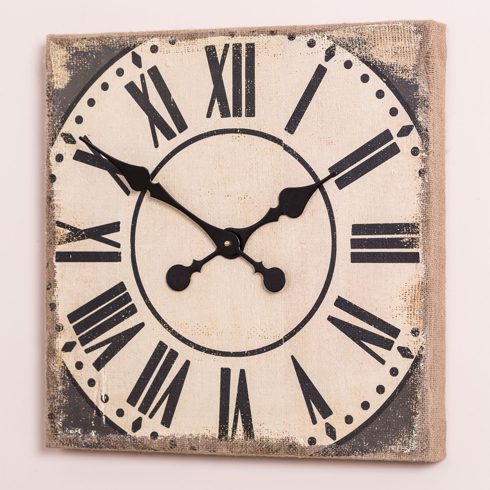 A quirky square shape wall clock with a rustic distressed finish a quirky square shape wall clock with a rustic distressed finish amipublicfo Image collections