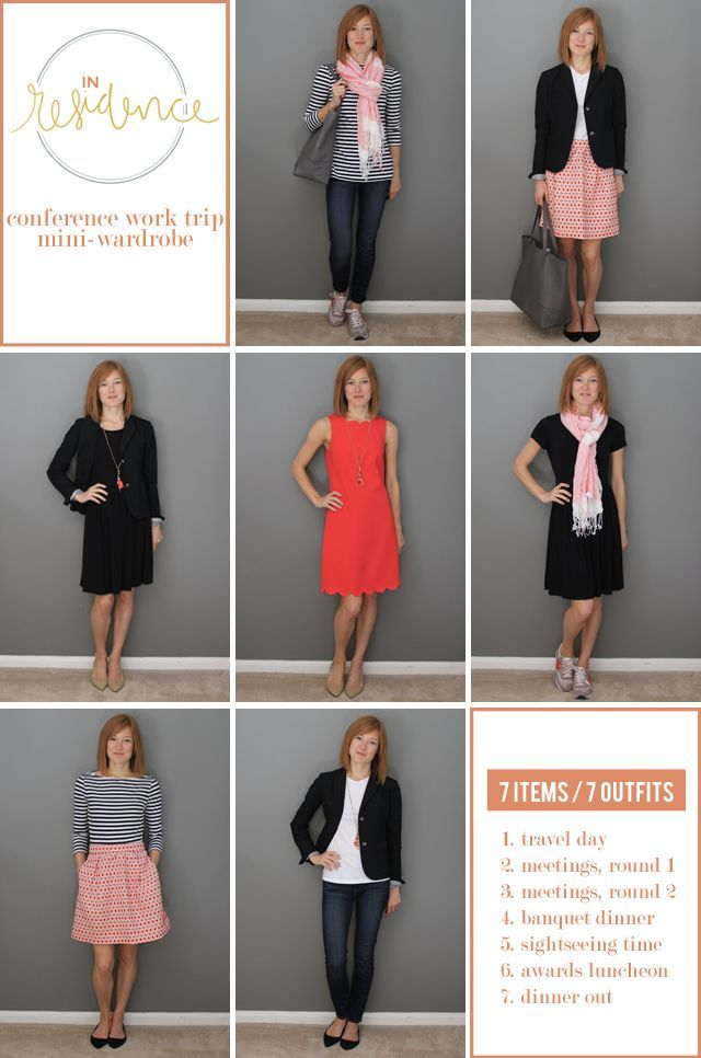 in residence work trip outfits 7 items 7 ways great tips for