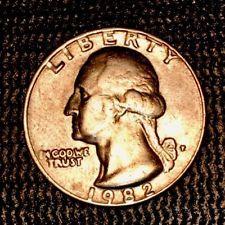 1982 P Washington Quarter 25c Error Coin Rare Filled P