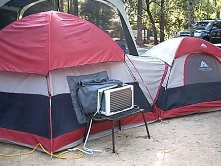 Best camping in a tent idea ever! We take fans hubby may think this has