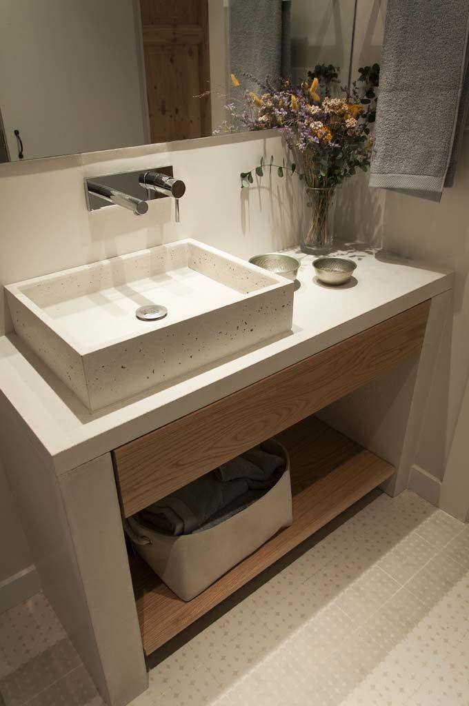 Encimera de piedra gris lavaderos de cocinas ba os y - Banos con encimera ...