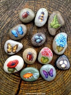 Paper Faces çakıl Taşı Boyama Sanatı Rocks And Glass Painted