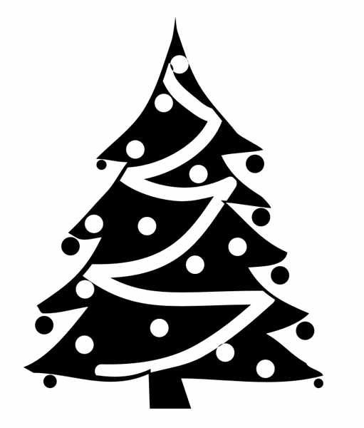 free christmas tree clipart public domain christmas clip art 3 - Free Christmas Clip Art Black And White