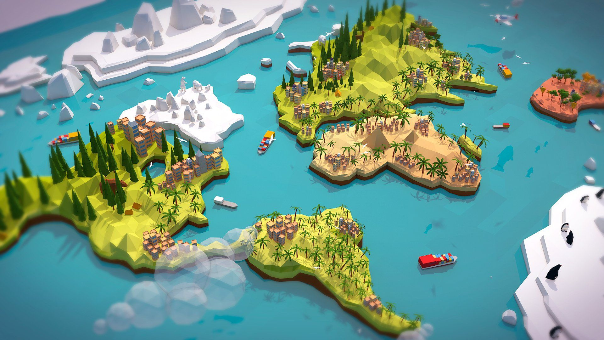 Cartoon Low Poly Earth World Map Earth World Map Low Poly Low