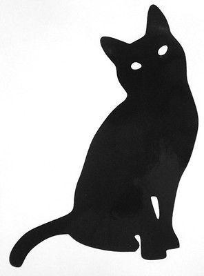 CatSilhouetteOutlineAnimalCarWindowVinylDecalSticker - Vinyl decal cat pinterest
