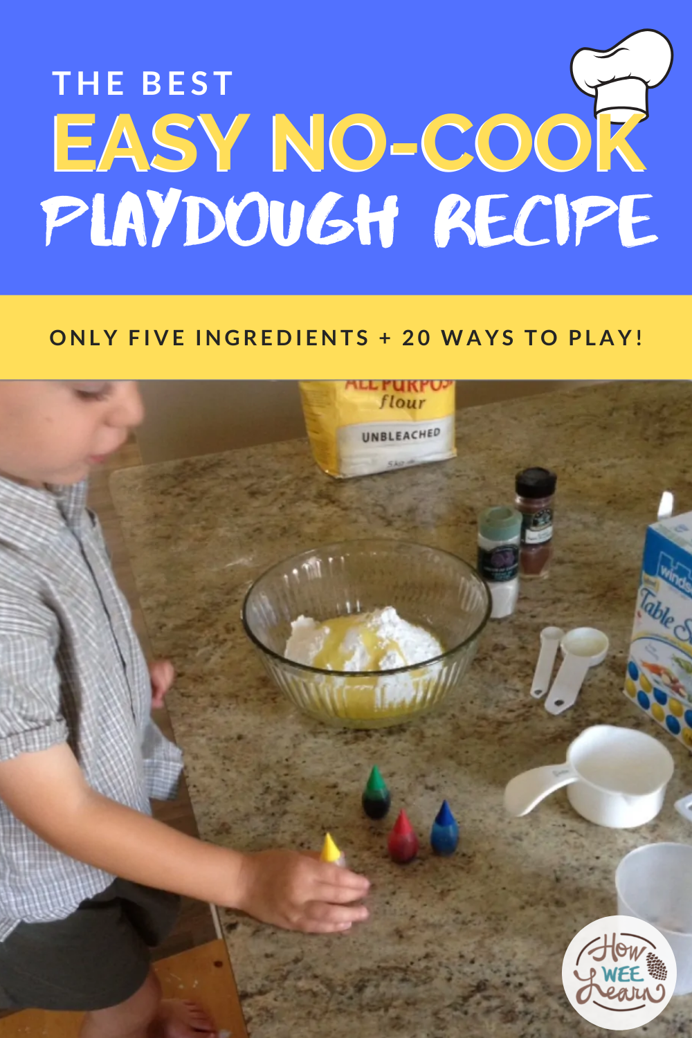 This is the BEST PLAYDOUGH RECIPE there is! Cooked