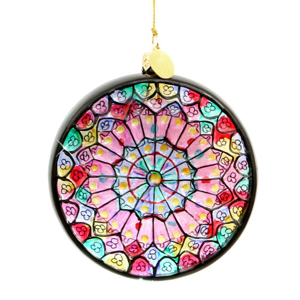 Paris Notre Dame Rose Window Ornament - Glass   Pinterest   Rose ...