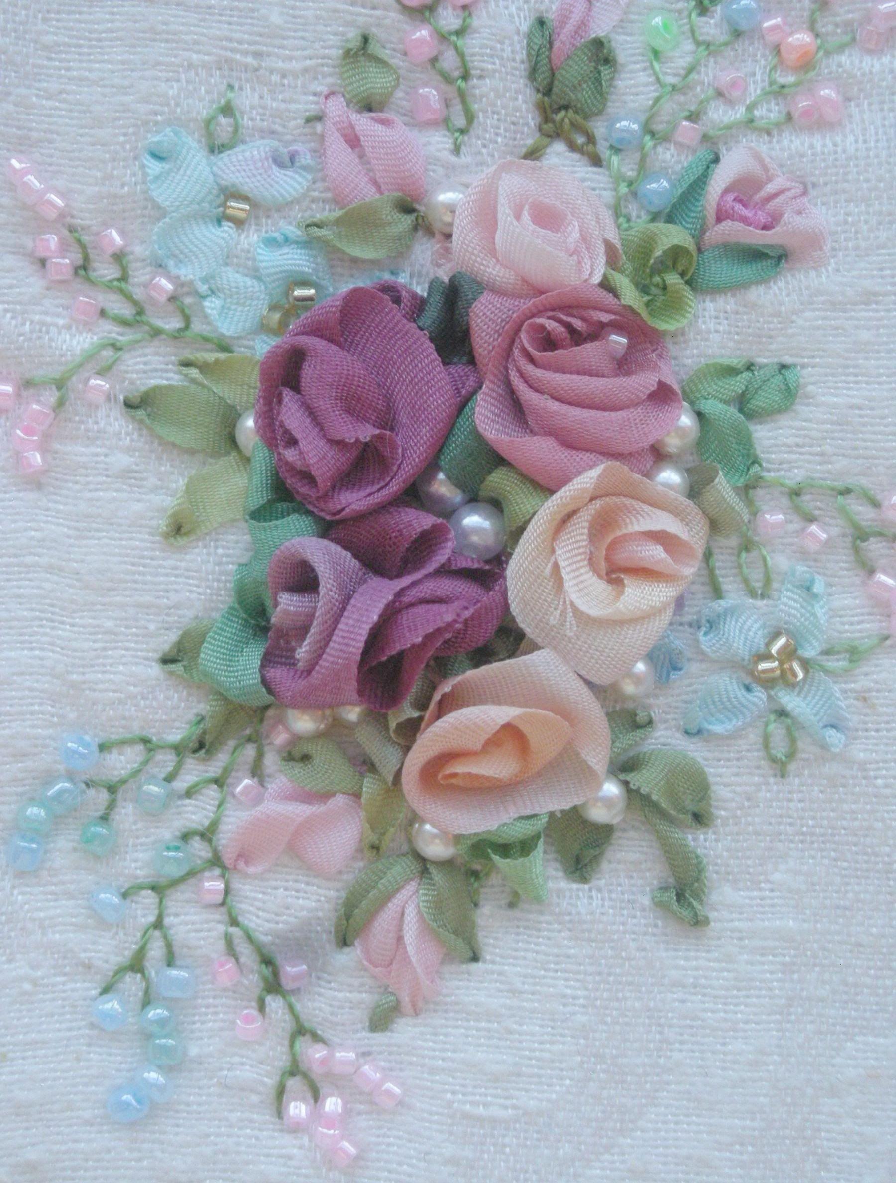 Silk ribbon embroidery ribbon embroidery patterns pinterest