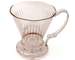"""Clever Coffee Dripper,  CAPACITY: 15 Ounces  HEIGHT: 6""""  DIAMETER: H 6"""" x W 7.25 (including handle)  MATERIAL: Plastic (not microwave or dishwasher safe)  UNIT: 1    $22.00   The Clever Dripper combines the best features of French Press and Filter Drip Brewing, eliminating the drawbacks of each. By adding a stopper to filtercone, the Clever Dripper combines control over steeping time with a sediment-free cup.  http://www.klatchroasting.com/Clever_Coffee_Dripper_p/cle_cof_dri.htm"""