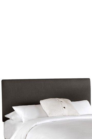 Border Headboard - Linen Charcoal by Linen Upholstered Headboards and Furniture on @HauteLook
