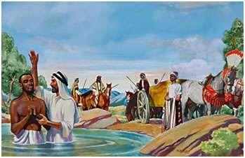 Felipe Bautiza Al Eunuco Funcionario De Candace Reina De Los Etíopes Espíritu Santo Saulo De Tarso Pentecostés