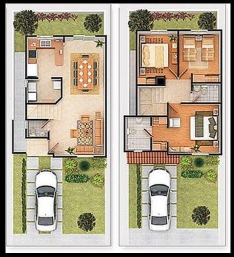 Planos de casas modernas de dos plantas | Arquitectura | Pinterest ...