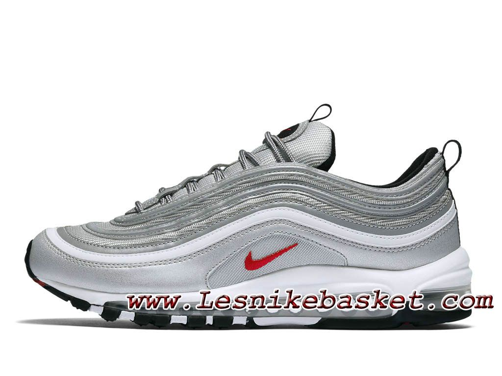 Nike Air Max 97 OG QS Silver Bullet 884421_001 Chaussures Officiel Nike  Pour homme Gris