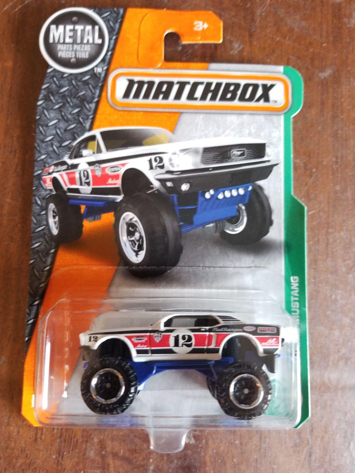 WHITE 2017 Matchbox M Case /'68 Ford Mustang #124 WA11
