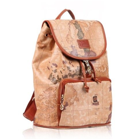 Womens world map leather backpack travel bag curious womens world map leather backpack travel bag gumiabroncs Image collections