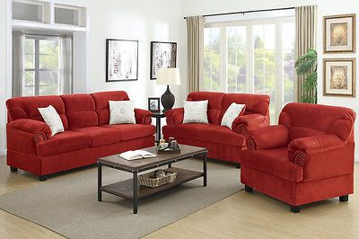 Sofa Set 3 Pcs Loveseat Amp