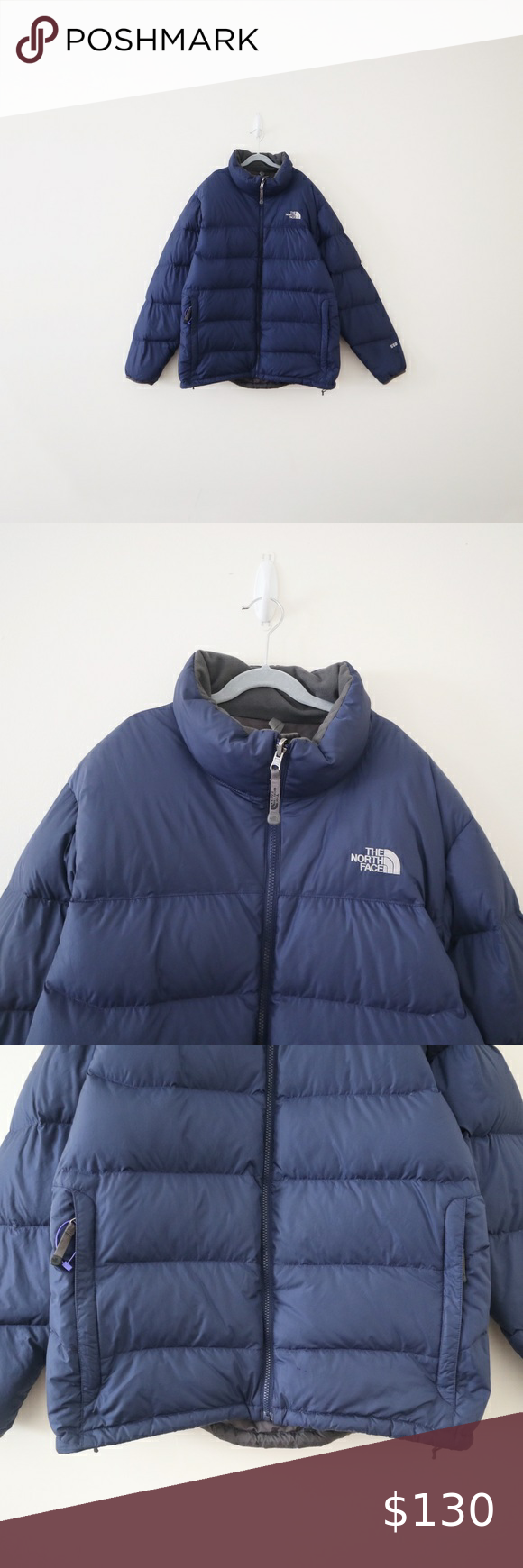 The North Face Down Puffer Jacket Coat 550 Navy Puffer Jackets The North Face Jackets [ 1740 x 580 Pixel ]
