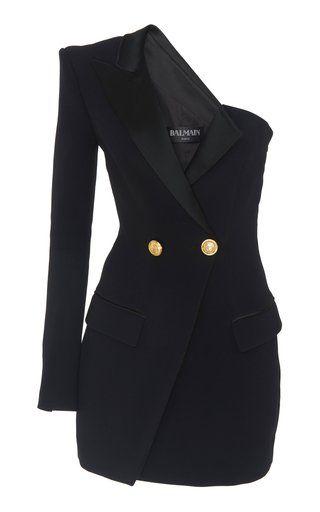 4a18320ec3 One Shoulder Blazer Dress by Balmain