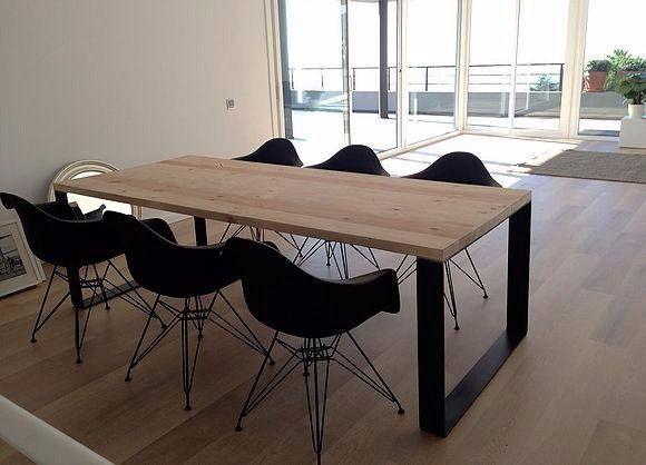 Mesa comedor industria madera y hierro 1 40 pelikan 1 comedores madera y muebles de cocina - Mesa madera industrial ...
