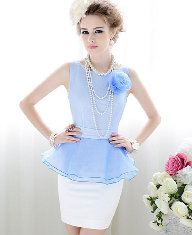 peplum dress how to wear