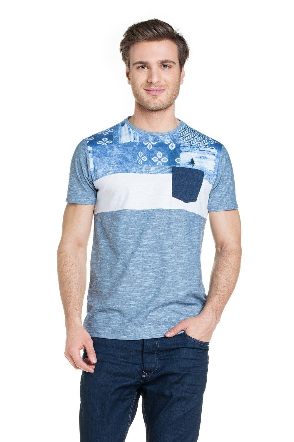 T-shirt de manga curta e bolso frontal | 114851 | Salsa