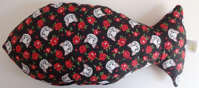 Almofada Doces Sonhos Gatinhas e Rosas