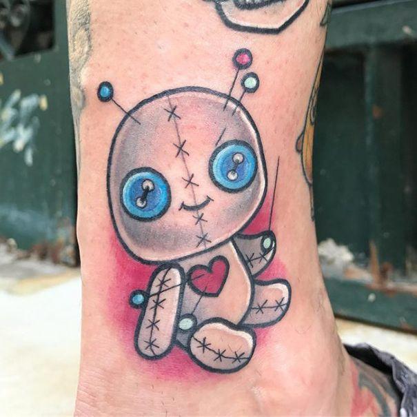 Tattoo Voodoo Dolls Creepy Tattoos Kid Tattoo 11