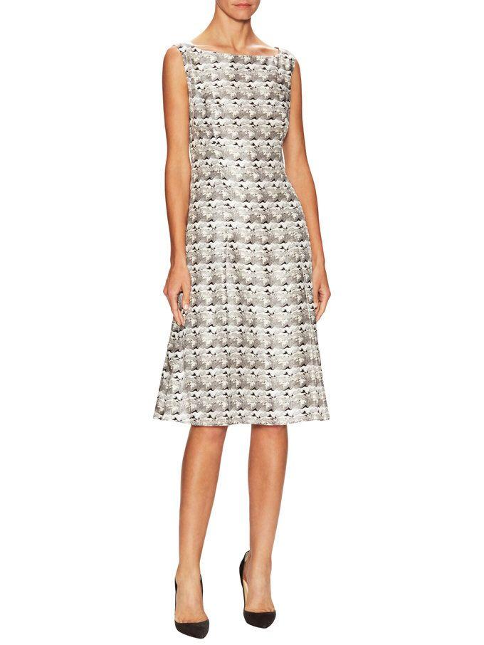 Silk Printed Dress from Carolina Herrera on Gilt