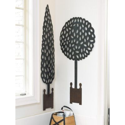 Topiary plaque | Outdoor wall decor, Decorative wall ...