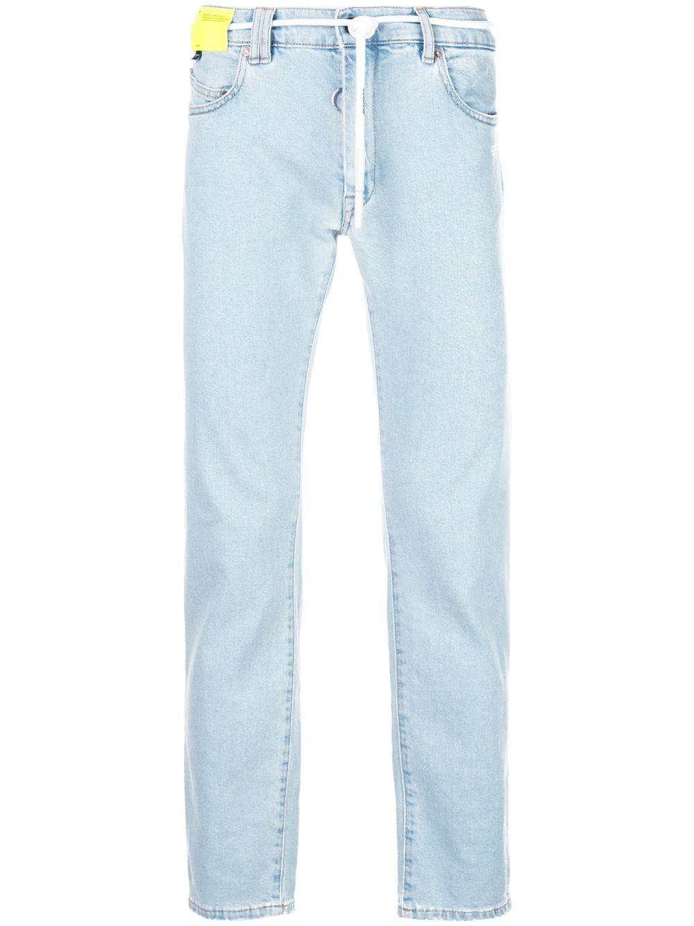 43437d59 Off-White slim fit jeans - Blue in 2019   Products   Off white ...