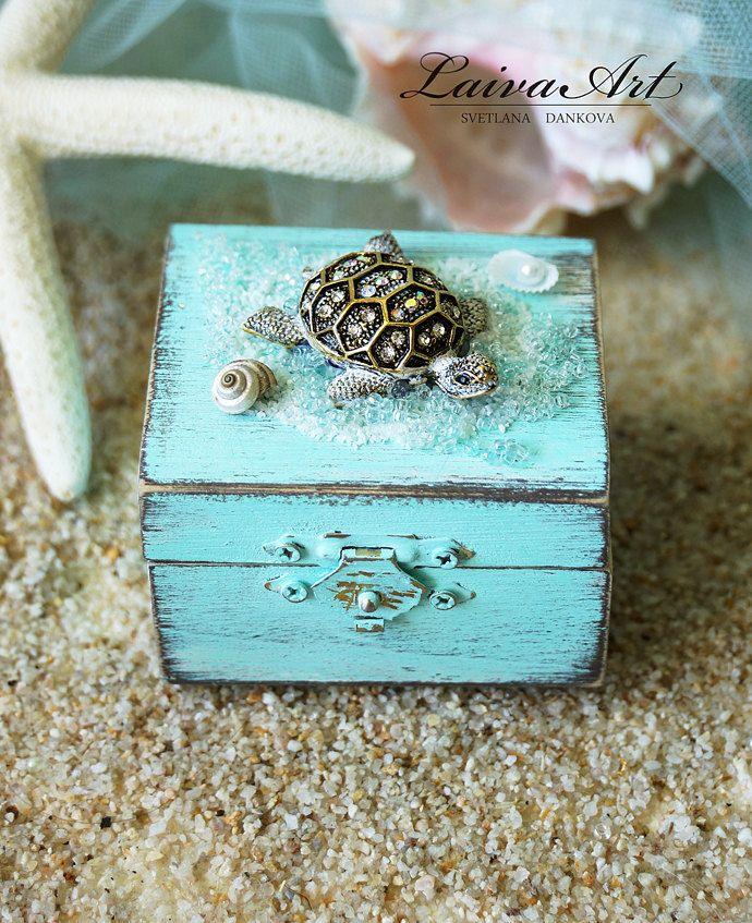 Beach Wedding Ring Bearer Pillow Box Rustic Ring Bearer Ring Box Personalized Box Beach Ring Bo Wedding Ring Bearer Pillow Ring Bearer Wedding Wedding Ring Box