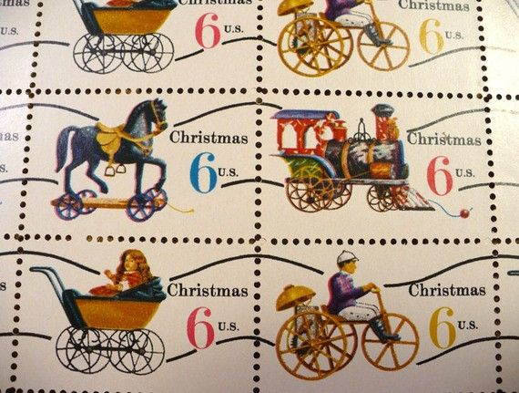 1970 Christmas Toys 6 Cent Vintage US Postage Stamps